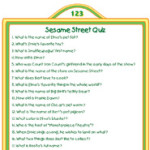 Printable Sesame Street Quiz Activity
