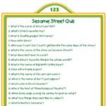 Printable Sesame Street Quiz Activity