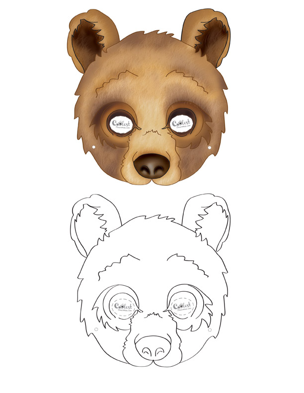 photo about Printable Bear Mask called Printable Undergo Mask