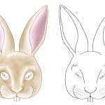 Printable Bunny Mask