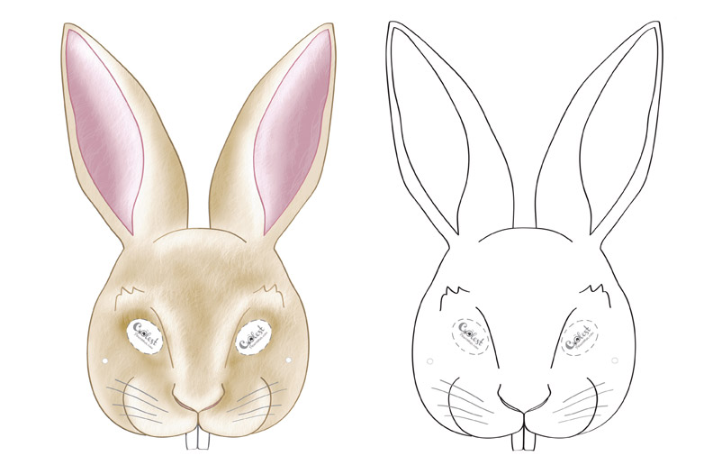 graphic about Printable Bunny Mask called Printable Bunny Mask
