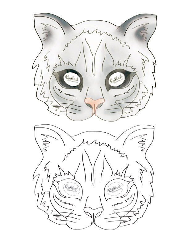 photo relating to Printable Cat Mask called Printable Cat Mask