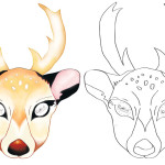 Printable Deer Mask