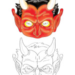 Printable Devil Mask