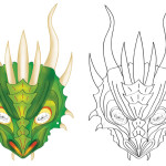 Printable Dragon Mask