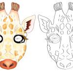 Printable Giraffe Mask