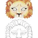 Printable Lion Mask