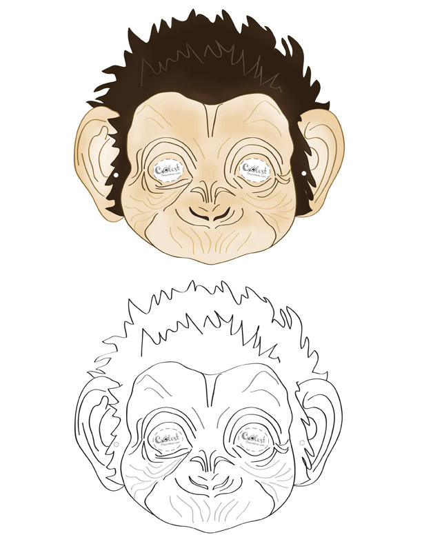 photo about Monkey Mask Printable named Printable Monkey Mask