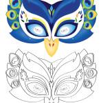 Printable Peacock Mask