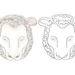 Printable Sheep Mask