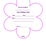 Printable Fairy Flower Invitation