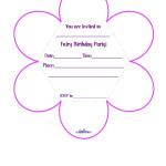 Printable Fairy Flower Invitation