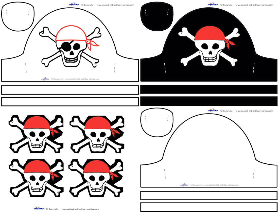 image relating to Pirates Printable identify Amazing Printable Pirate Hats