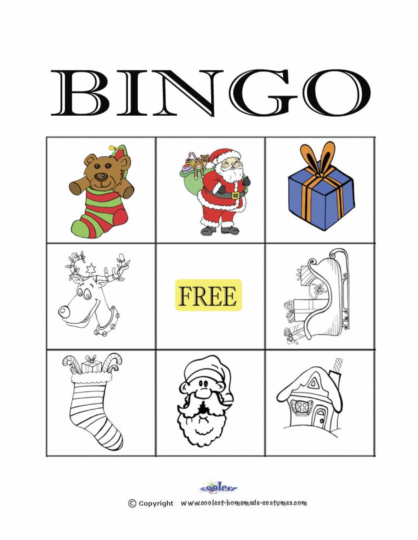 Christmas Bingo 3×3