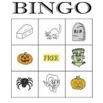 Halloween Bingo 3x3