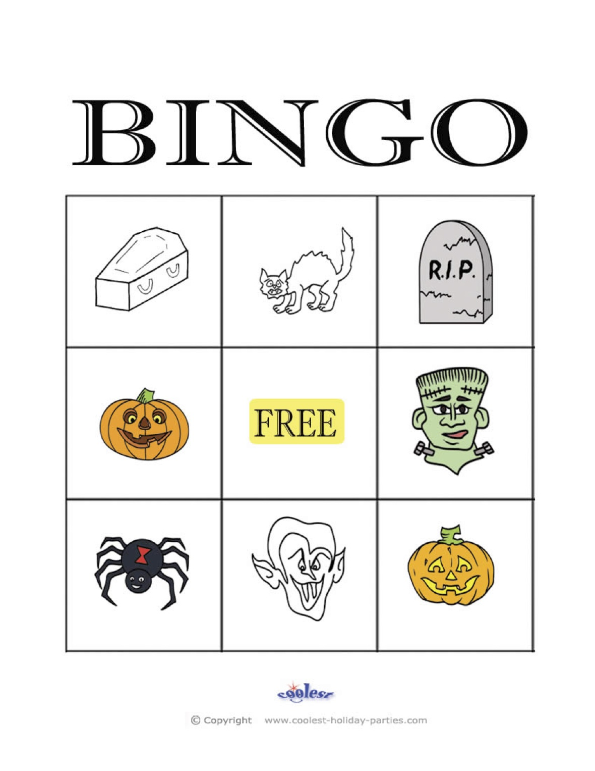photo regarding 25 Printable Halloween Bingo Cards identify Halloween Bingo 3×3