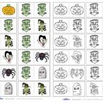 Printable Halloween Dominos – Kid Version
