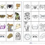 Printable Memory Game for Halloween